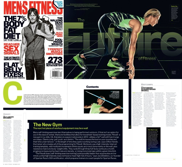 Future of Fitness Feature in December issue of Men's Fitnesss